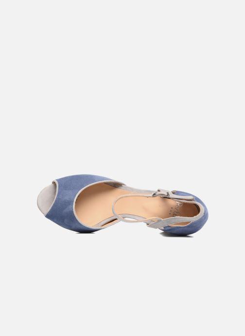 Sandales et nu-pieds Perlato Aladéa Bleu vue gauche