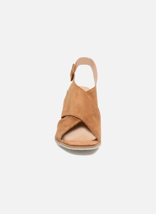 Sandales et nu-pieds Perlato Aslan Marron vue portées chaussures
