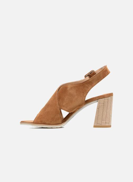 Sandales et nu-pieds Perlato Aslan Marron vue face