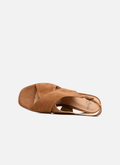 Sandales et nu-pieds Perlato Aslan Marron vue gauche