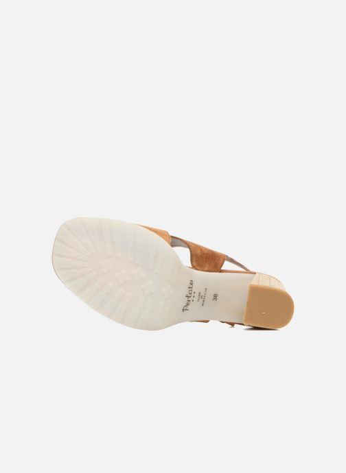 Sandales et nu-pieds Perlato Aslan Marron vue haut