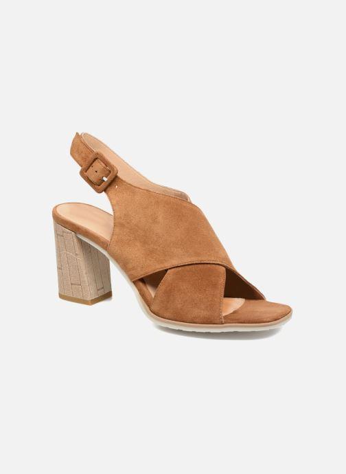 Sandales et nu-pieds Perlato Aslan Marron vue détail/paire