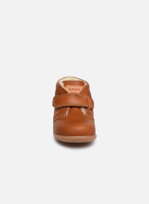 Chaussures à scratch Kavat Hammar EP Marron vue portées chaussures