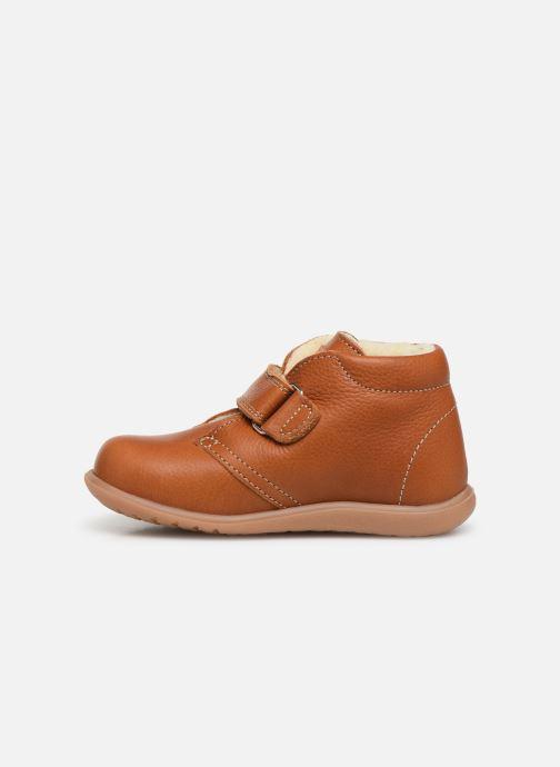Velcro shoes Kavat Hammar EP Brown front view