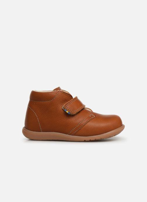 Velcro shoes Kavat Hammar EP Brown back view
