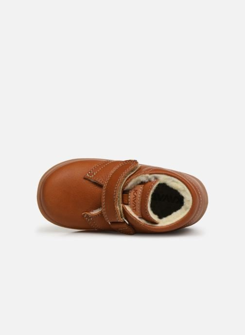 Velcro shoes Kavat Hammar EP Brown view from the left
