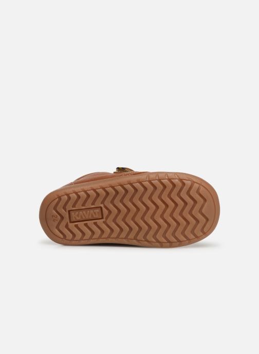 Velcro shoes Kavat Hammar EP Brown view from above