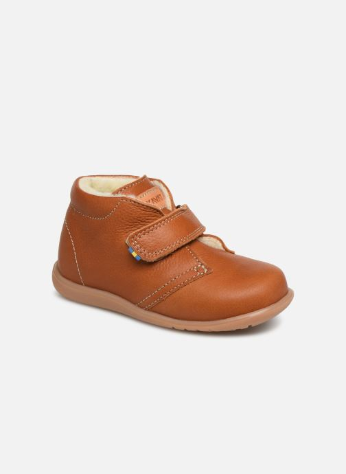 Velcro shoes Kavat Hammar EP Brown detailed view/ Pair view