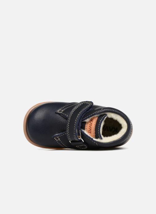 Zapatos con velcro Kavat Hammar EP Azul vista lateral izquierda