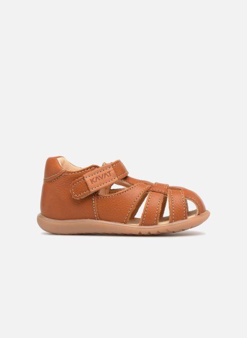 Sandales et nu-pieds Kavat Rullsand EP Marron vue derrière