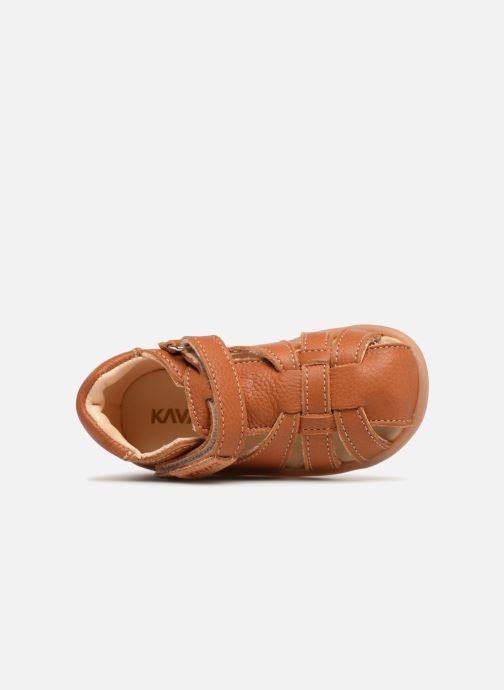 Sandales et nu-pieds Kavat Rullsand EP Marron vue gauche