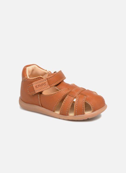 Sandales et nu-pieds Kavat Rullsand EP Marron vue détail/paire