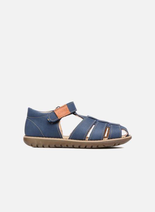 Sandales et nu-pieds Kavat Hallevik EP Bleu vue derrière