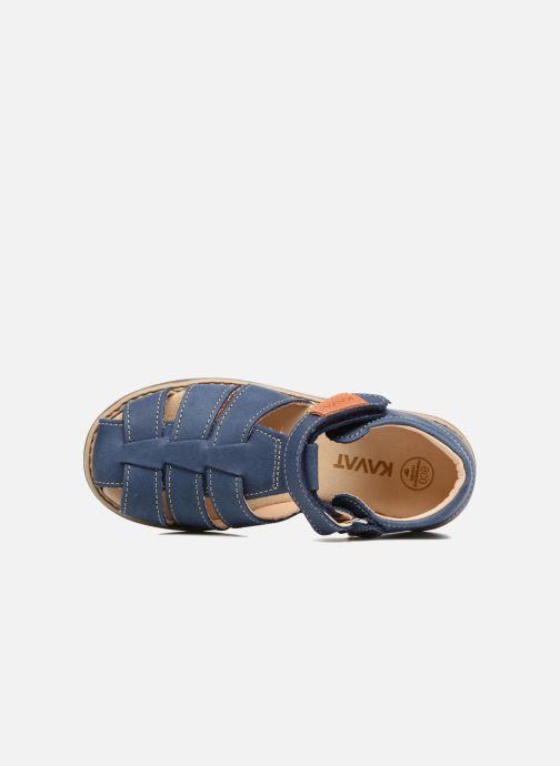Sandales et nu-pieds Kavat Hallevik EP Bleu vue gauche