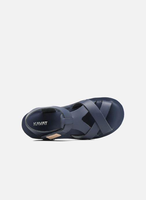 Sandales et nu-pieds Kavat Nynas XC Bleu vue gauche