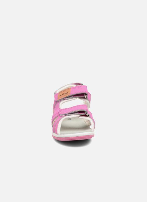 Sandales et nu-pieds Kavat Torsby Rose vue portées chaussures