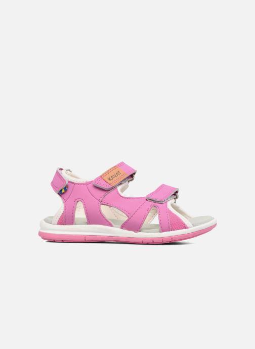 Sandals Kavat Torsby Pink back view