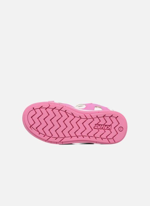 Sandales et nu-pieds Kavat Torsby Rose vue haut