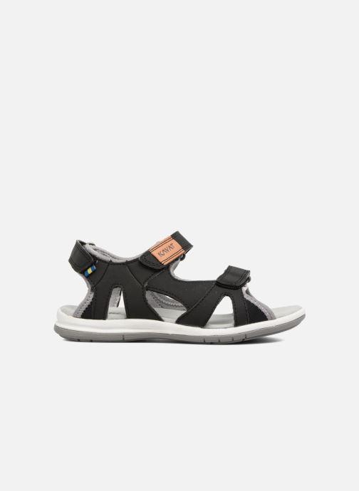 Sandales et nu-pieds Kavat Torsby Noir vue derrière