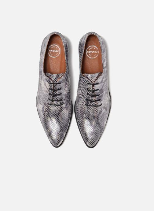 Chaussures à lacets Made by SARENZA Vegas Lipstick #6 Argent vue portées chaussures