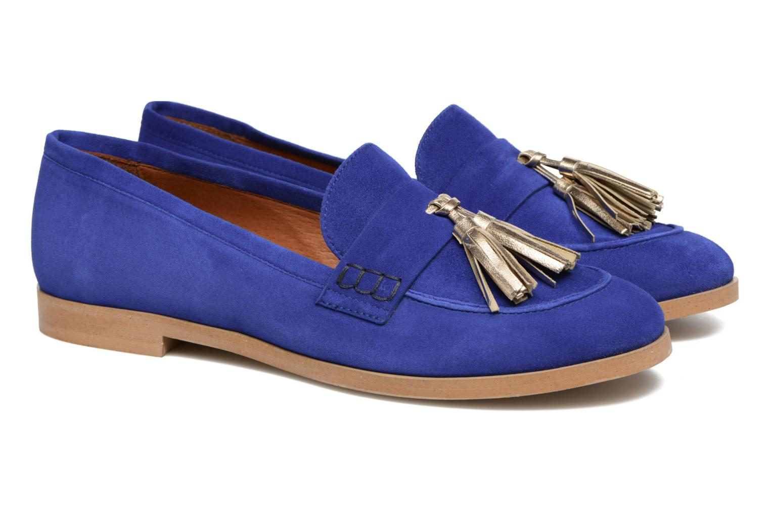 Loafers Made by SARENZA Bombay Babes Mocassins #2 Blue back view
