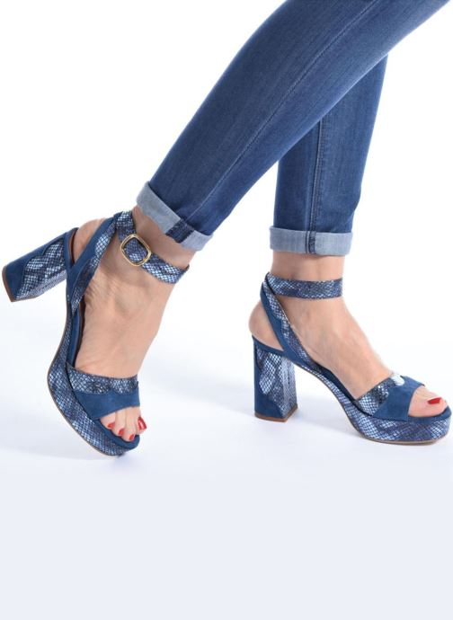 Sandales et nu-pieds Made by SARENZA Tennesse Sister #2 Bleu vue bas / vue portée sac