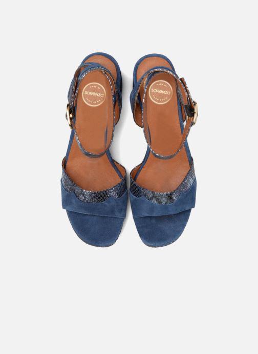 Sandales et nu-pieds Made by SARENZA Tennesse Sister #2 Bleu vue portées chaussures