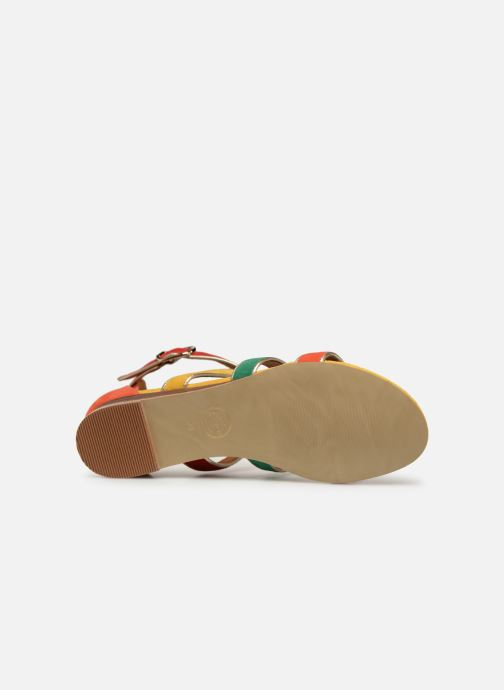 Sandales et nu-pieds Made by SARENZA Riviera Couture Sandales Plates #3 Multicolore vue haut