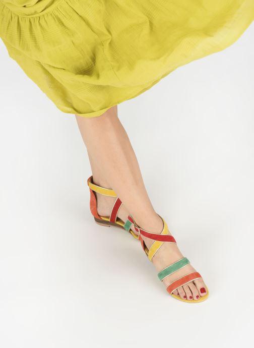 Sandales et nu-pieds Made by SARENZA Riviera Couture Sandales Plates #3 Multicolore vue bas / vue portée sac
