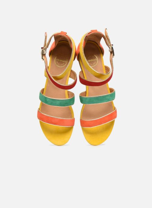 Sandalen Made by SARENZA Riviera Couture Sandales Plates #3 mehrfarbig schuhe getragen