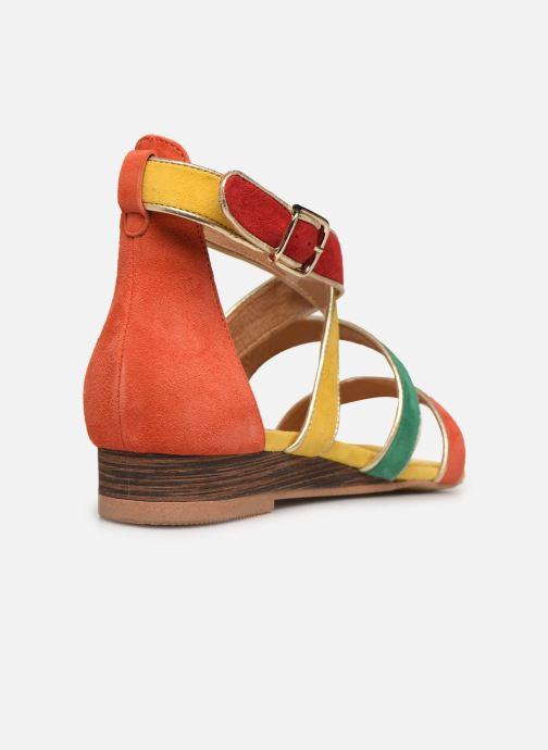 Sandales et nu-pieds Made by SARENZA Riviera Couture Sandales Plates #3 Multicolore vue face