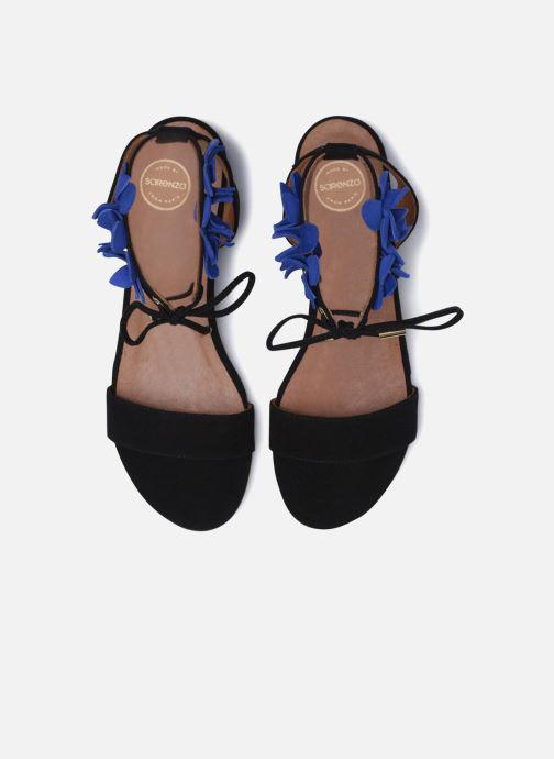 Sandalias Made by SARENZA Frida Banana #7 Negro vista del modelo