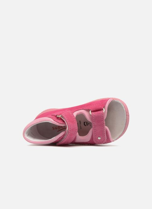 Sandals Superfit Polly Pink view from the left