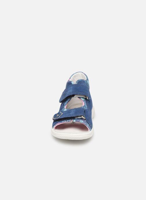 Sandales et nu-pieds Superfit Polly Bleu vue portées chaussures