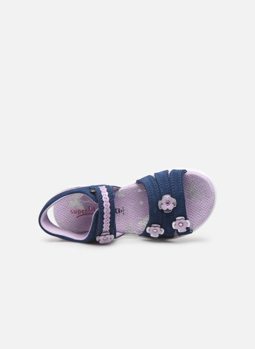 Sandalen Superfit Emily Blauw links