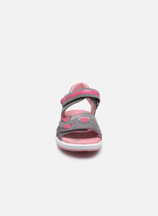 Sandales et nu-pieds Superfit Emily Gris vue portées chaussures