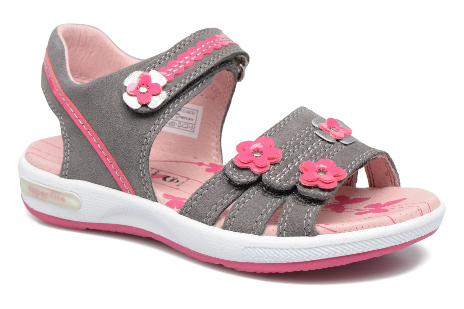 Sandals Superfit Emily Grey detailed view/ Pair view