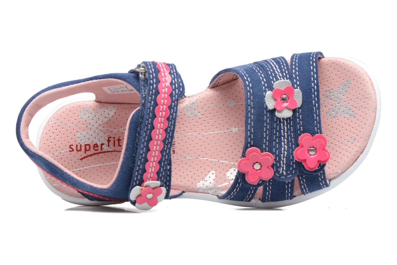 Sandales et nu-pieds Superfit Emily Bleu vue gauche