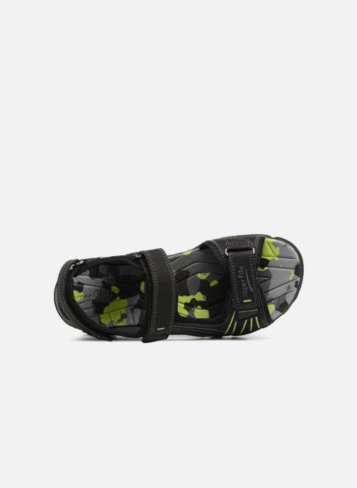 Sandales et nu-pieds Superfit Henry Noir vue gauche