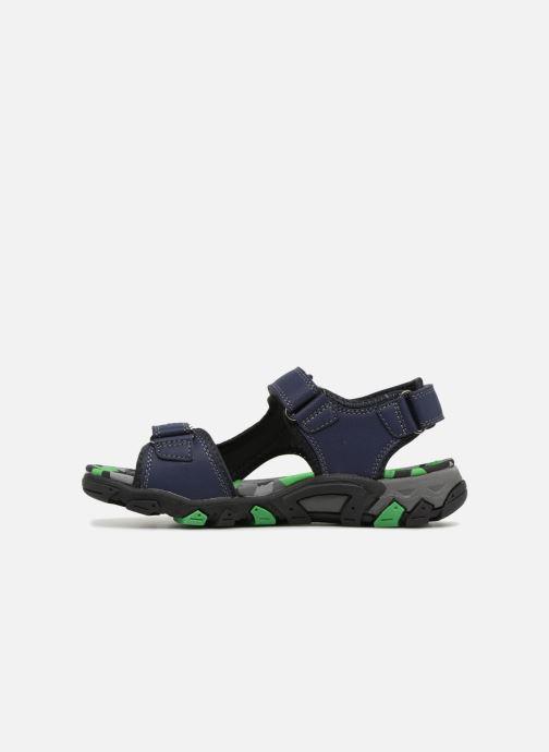 Sandales et nu-pieds Superfit Henry Bleu vue face