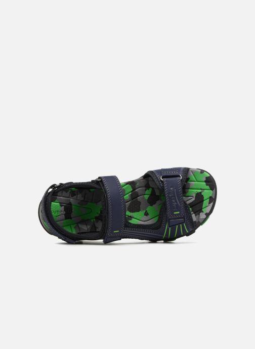 Sandales et nu-pieds Superfit Henry Bleu vue gauche