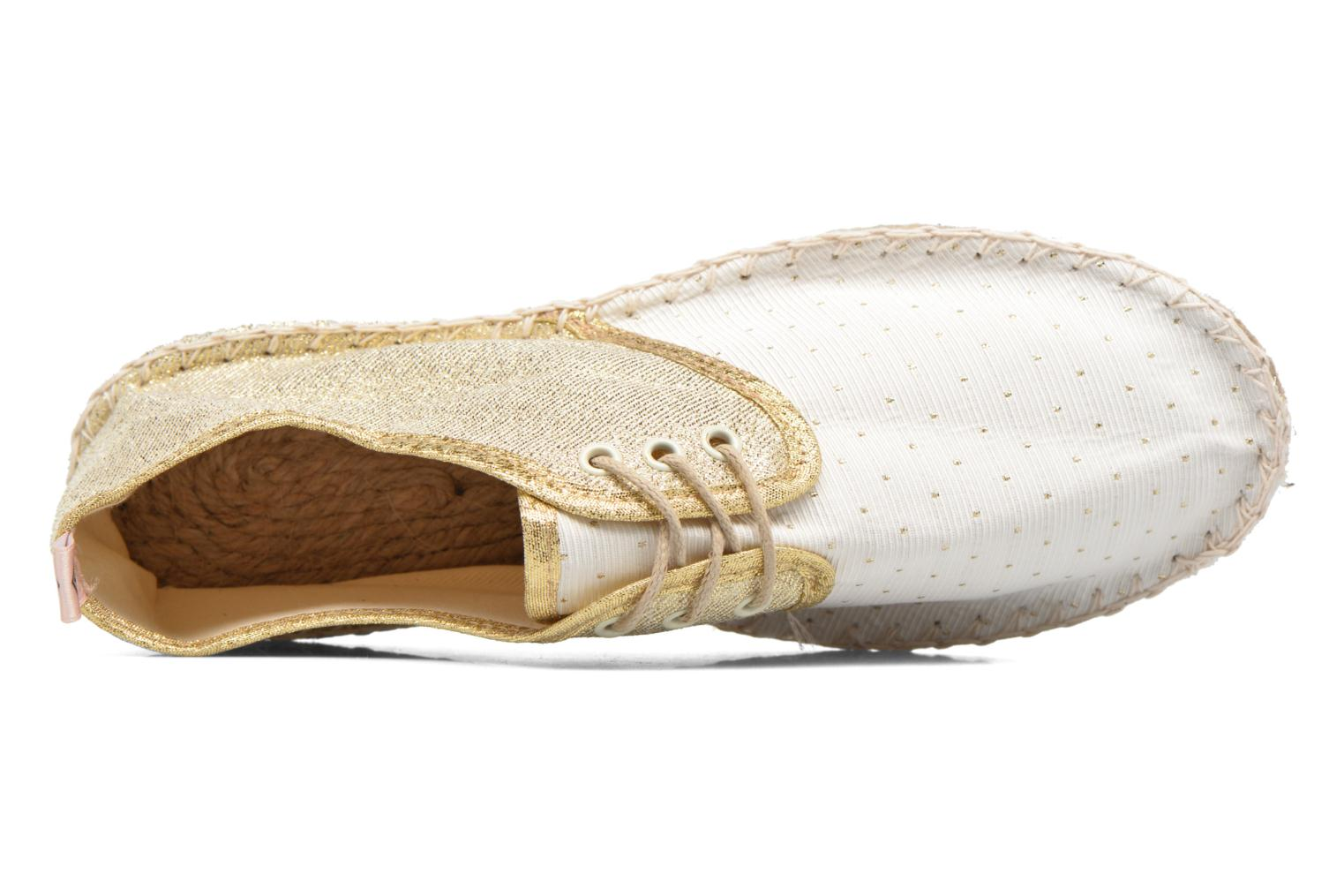 Espadrilles Arsène Tennis Golden White view from the left