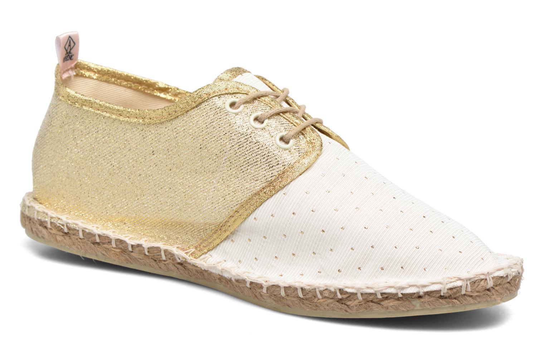 Espadrillos Arsène Tennis Golden Hvid detaljeret billede af skoene