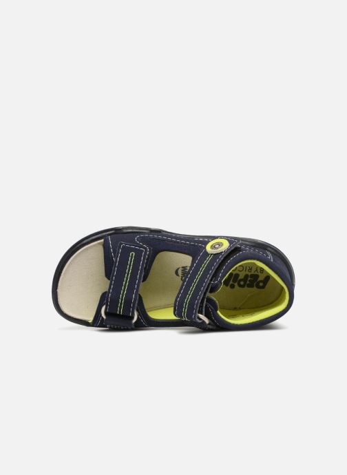 Sandales et nu-pieds Pepino Manti Bleu vue gauche