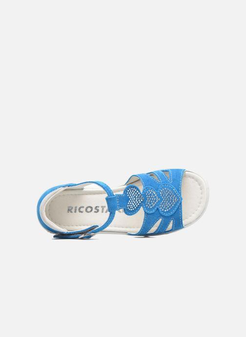 Sandalias Ricosta Pippa Azul vista lateral izquierda