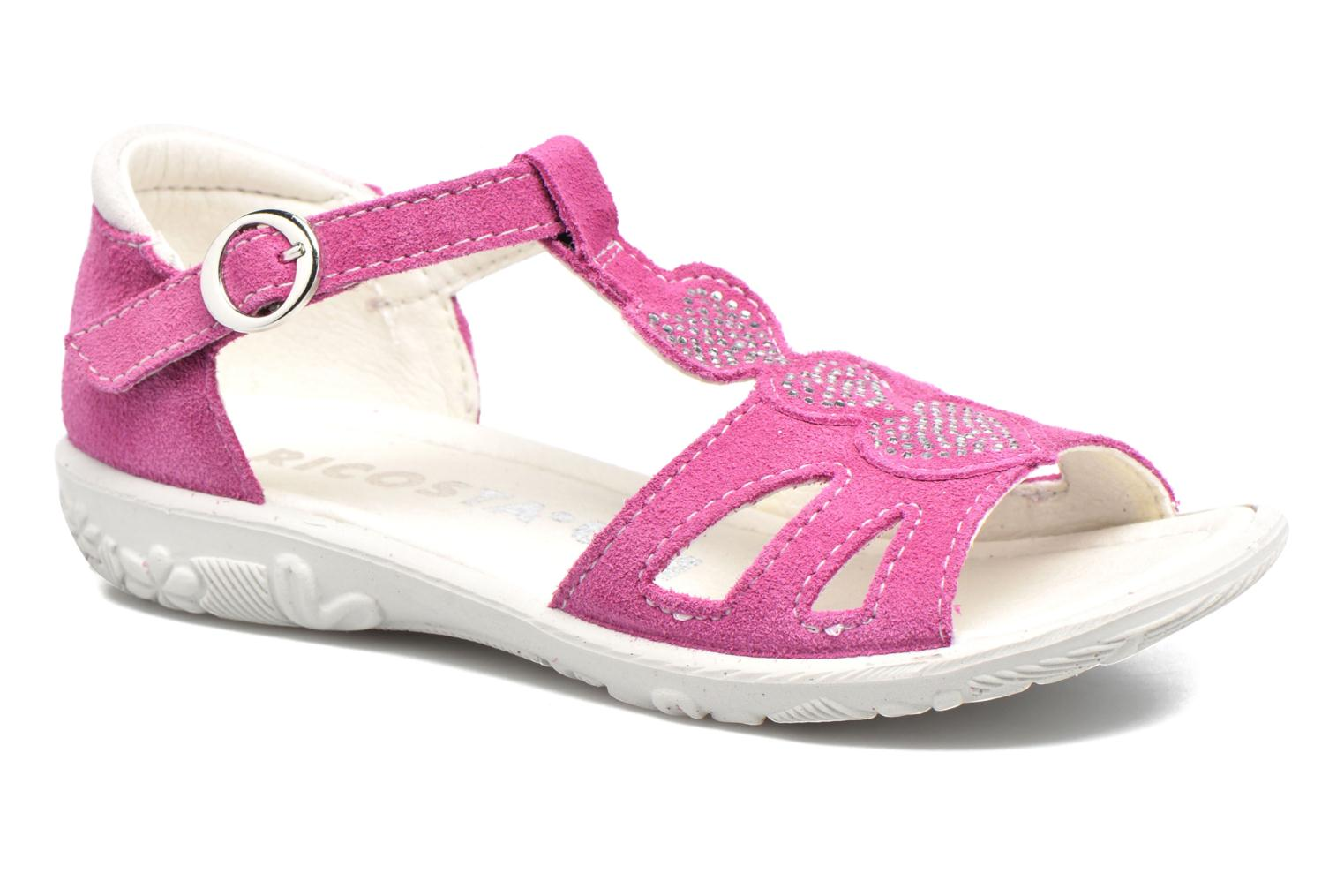 Sandals Ricosta Pippa Pink detailed view/ Pair view
