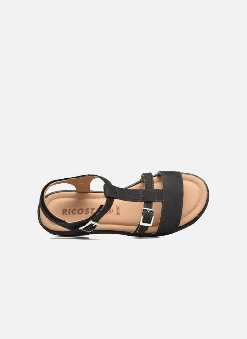 Sandals Ricosta Kalja Black view from the left