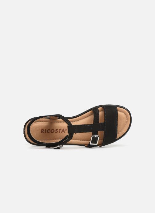 Sandales et nu-pieds Ricosta Kalja Noir vue gauche