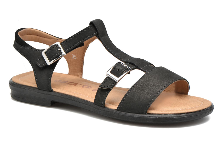 Sandaler Ricosta Kalja Sort detaljeret billede af skoene