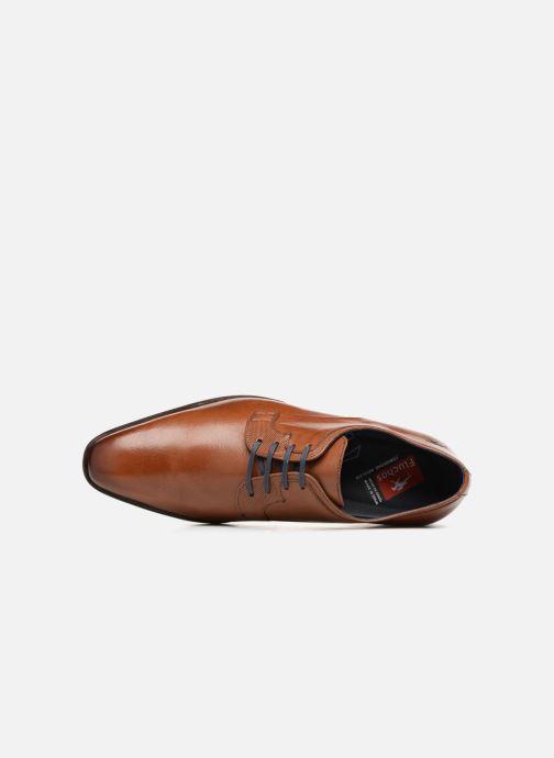 Zapatos con cordones Fluchos Cesar 9668 Marrón vista lateral izquierda